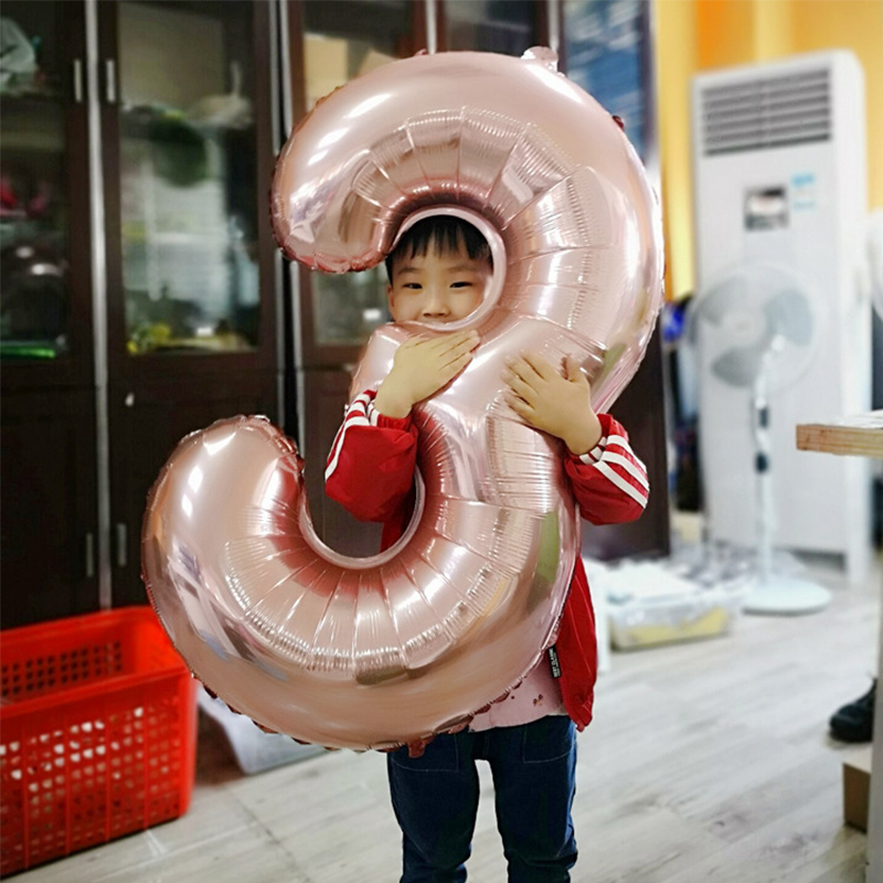 40 Inch Number Letter Balloon Big Size Colourful Aluminium Film Balloon For Wedding Party Happy Birthday Decoration Balloons in Ballons Accessories from Home Garden