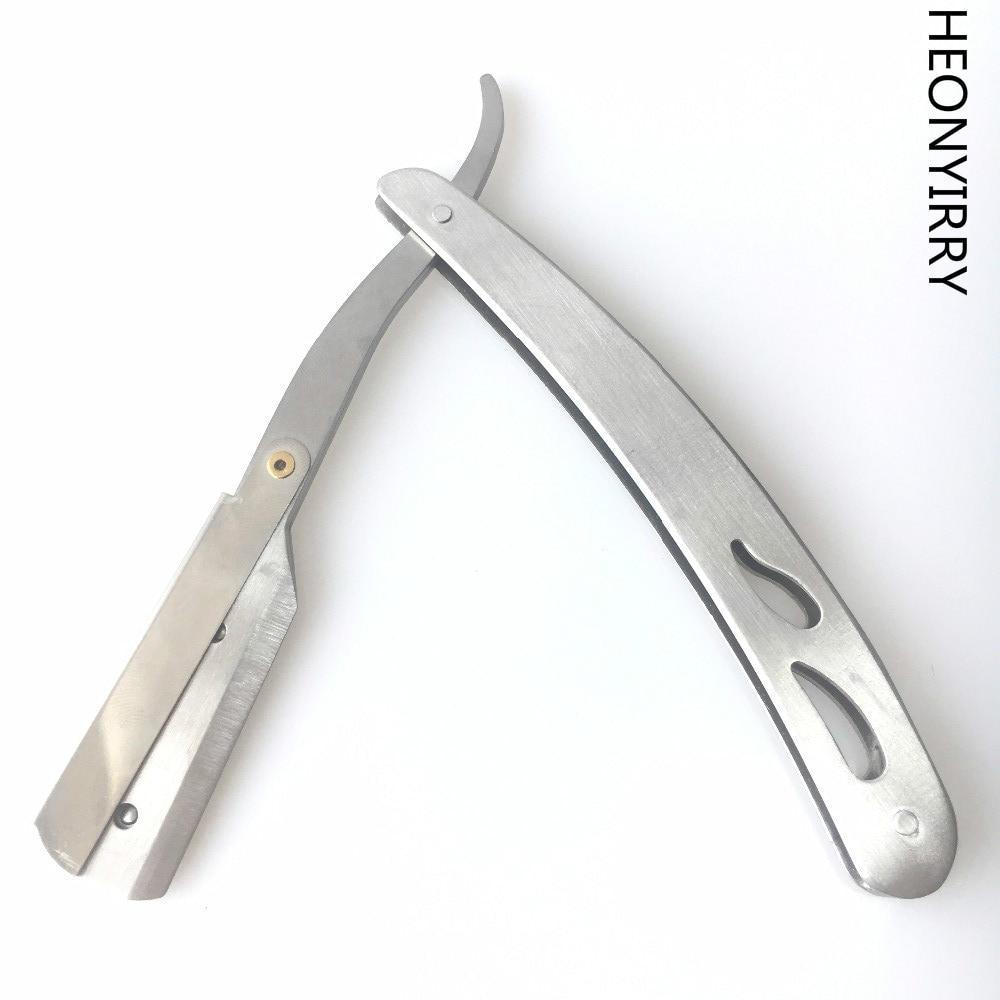Прямо Парикмахерская Край Сталь Бритвы складной бритья Ножи держатель стойки без лезвия