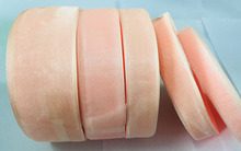 Geinne 12 мм-50 мм шириной 500 ярдов 10 рулонов персик лента из органзы оптовая продажа подарочной упаковки Рождество лентами