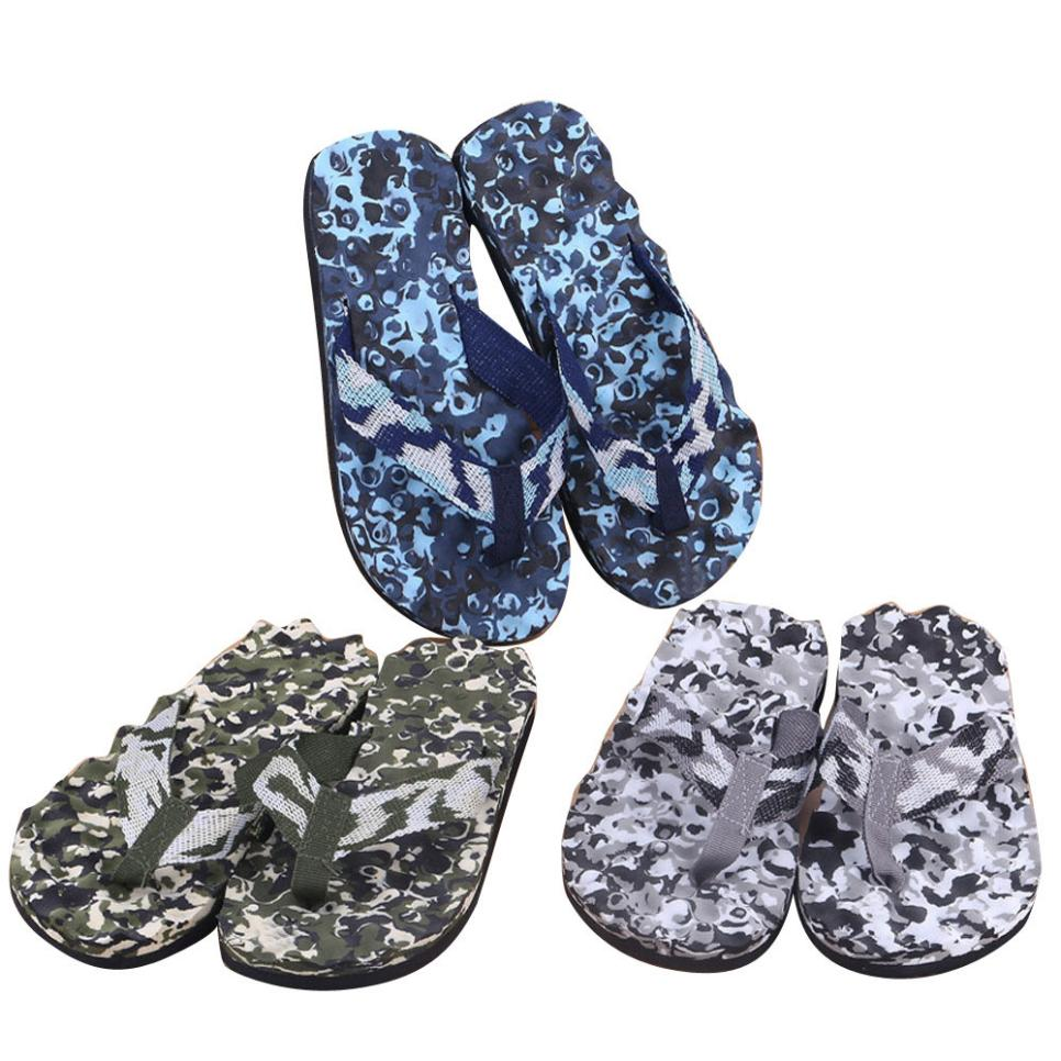 New Arrival Best Selling Candy Color Men Summer Camouflage Flip Flops Shoes Sandals Slipper indoor & outdoor(China)