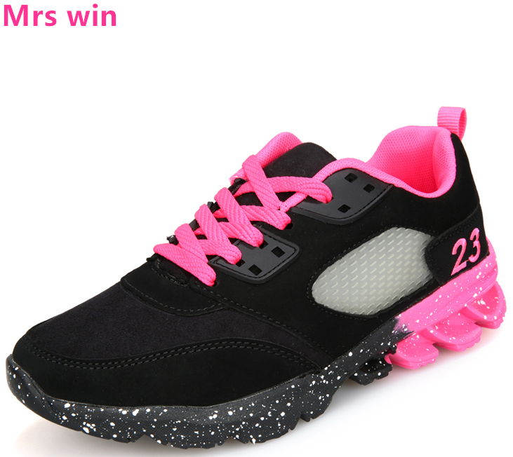 Hot New Spring Running Shoes Women Sneakers Outdoor Training Breathable Belt with Color Round Light Sports Shoes