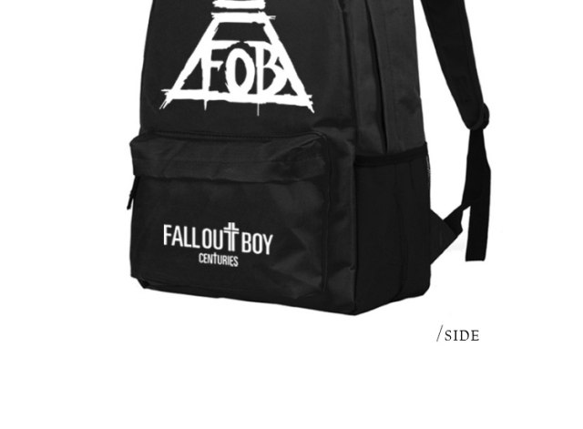 cd842e0d1e ... Anime Fall Out Boy Backpack Middle High School Students Bookbag  Schoolbag (11) ...