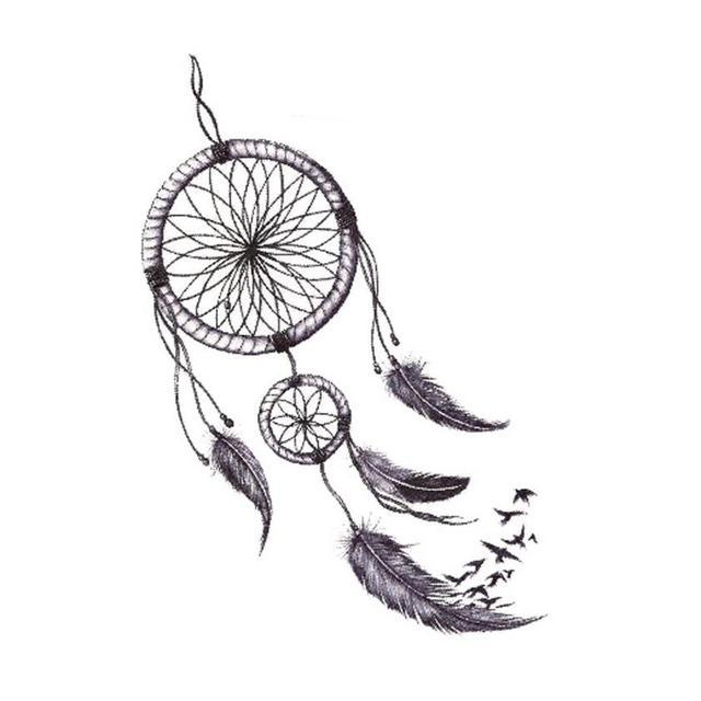 Temporäre Tattoos Körper Kunst Gefälschte Dreamcatcher Tattoo Amazing Dream Catcher Tattoo Prices