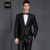 Tailor made Men Black Suit Shawel Collar Slim fit Wedding Suit Men Tuxedo 2 Pieces(Jacket+Pants) No. SZ160A5
