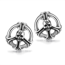 Free Shipping New Design Vintage Skull Stud Earrings 316L Stainless Steel Earring 2017 Fashion Punk Jewelry for Women Gifts E001