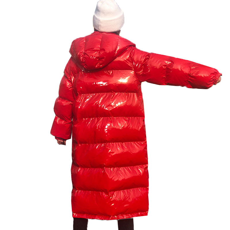 Lose Frauen Lange Mode Kapuze rot Green Blue 845 Jacke grün Baumwolle purple Oberbekleidung Warme silver yellow Dicke Streetwear Wadded Mantel Parkas tea Schwarzes Mit Winter royal XqvFwI