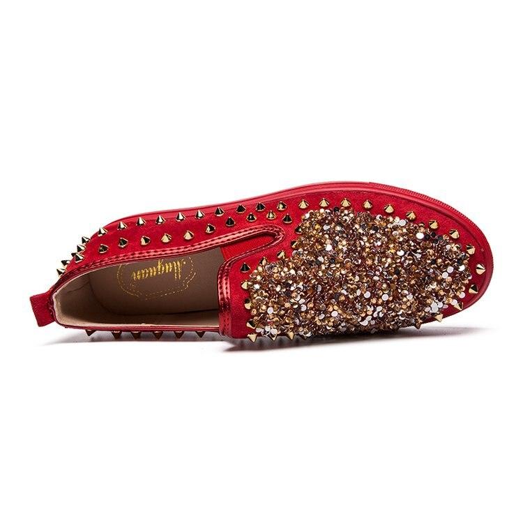 Zapatillas La Casual Moda Cuero Rojo Hombre Alta Negro Mocasines Deporte rojo Calidad Homme Zapatos Los Marca De Chaussure Hombres Diseño Para Lujo w8On7qqE