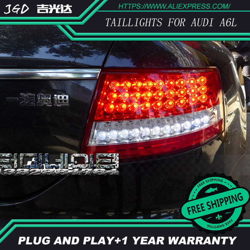 Car Styling tail lights for Audi A6L taillights 2005-2008 LED Tail Lamp rear trunk lamp cover drl+signal+brake+reverse car rear trunk security shield cargo cover for volkswagen vw tiguan 2016 2017 2018 high qualit black beige auto accessories