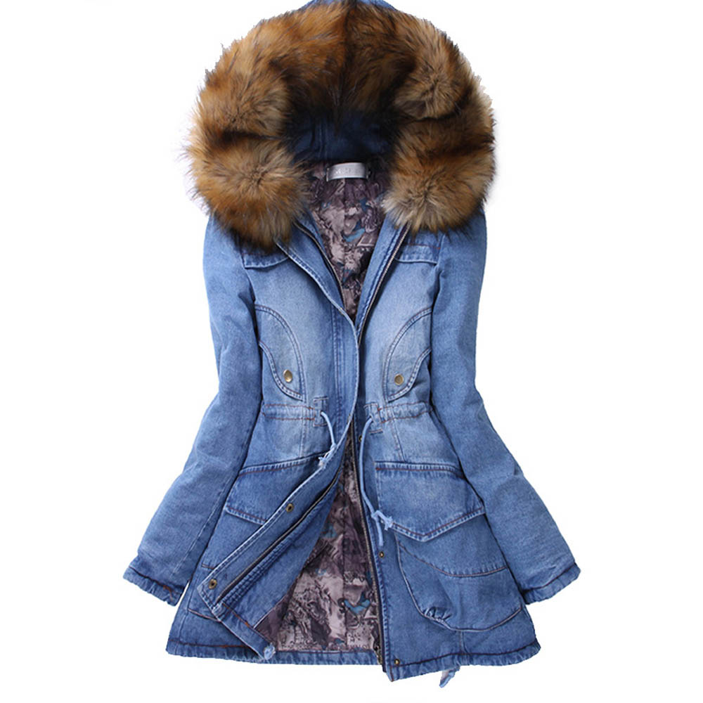 Aliexpress.com : Buy Preself Denim Cotton Parka Jacket Women ...