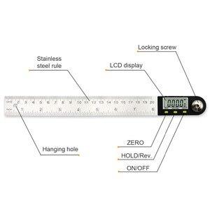 Image 2 - 200mm /300mm 스테인레스 스틸 디지털 미터 각도 경사계 각도 디지털 눈금자 전자 각도계 각도기 각도 파인더