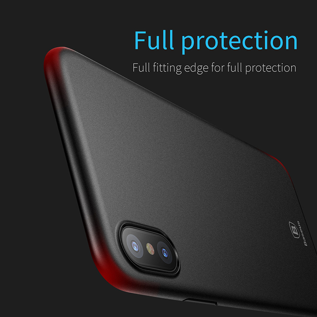 Baseus iPhone X Ultra Thin Slim PP Frosted Back Case Cover