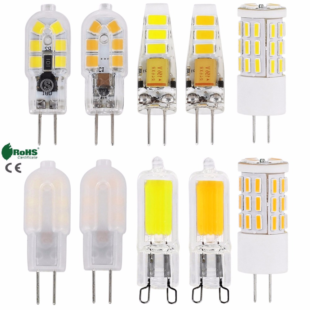 10pcs lot crystal silicone candle led g9 cob ampoule led for Ampoule led jardin