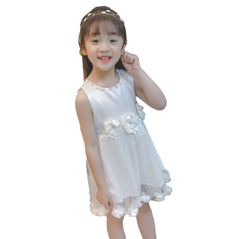 Princess Dress For Girls 5 6 8 9 10 11 12 13 14 15 Years Teenage Summer Kids Dresses With Flowers Sleeveless Baby Girl Clothes baby children girl princess dress 2018 new 3 4 5 6 7 8 9 10 11 12 year summer flower girls dress sleeveless fashion kids clothes