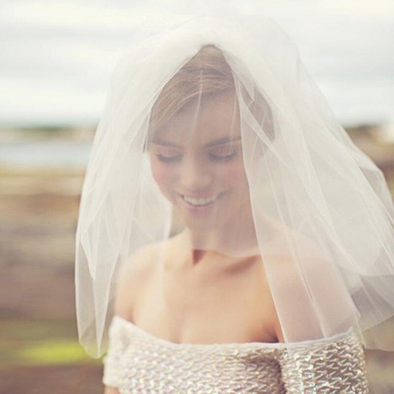 vente chaude blancivoire voiles de marie tulle de mariage visage voiles accessoires de mariage - Aliexpress Mariage