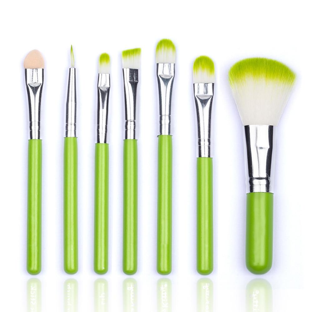 Профессиональный набор кистей для макияжа, 7 шт., тени для век, пудра, румяна, наборы для макияжа, шерстяная основа, косметические инструменты...