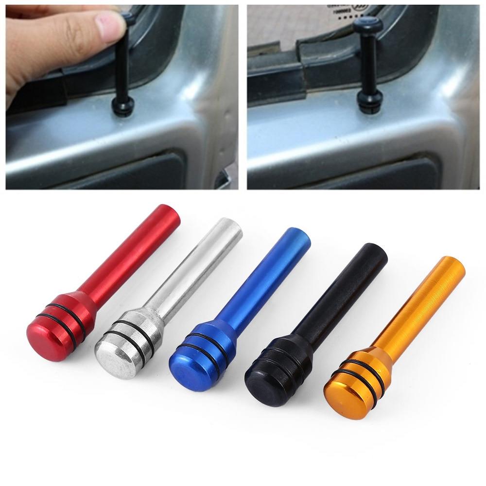 2pcs Red Aluminum Alloy Universal Car Truck Interior Door Lock Knob Pull Pin Kit