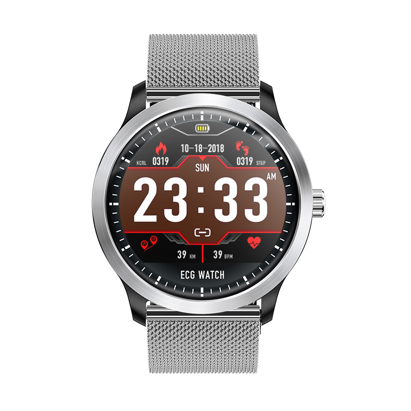 N58 ECG PPG smart watch with electrocardiograph ecg display holter ecg heart rate monitor blood pressure smartwatch 2600mah new monitor ecg battery for spring ecg 912a ecg 912