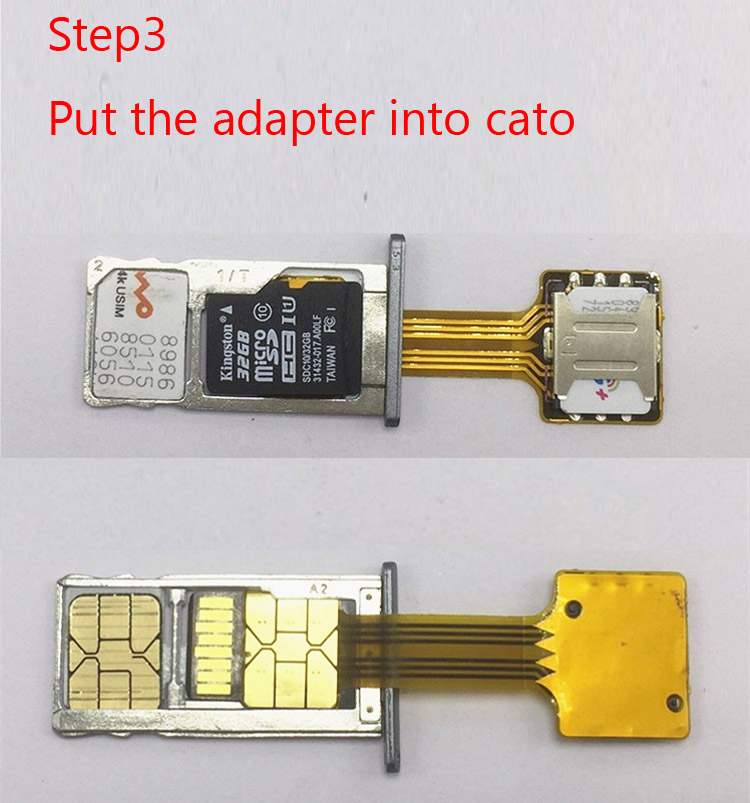 50Pcs Hybrid Double Dual SIM Micro SD Adapter for Android Extender 2 Nano Micro SIM Adapter