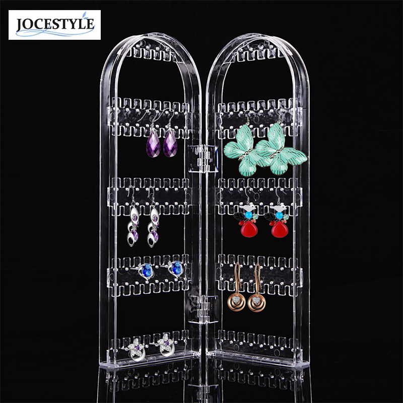 Jewelry Display Acrylic Clear Holder 120 Hole Cosmetic Organizer Storage Makeup Case Cabinet Box Jewelry Display Holder display stand clear acrylic cosmetic organizer makeup case storage makeup organizer organizator makeup brush control holder