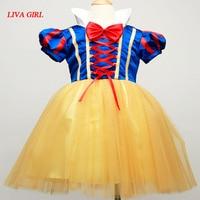 Newborn Baby Dress Girls Infant Snow White Costumes Princess Dress Children Halloween Outfits Kids Tutu Clothes