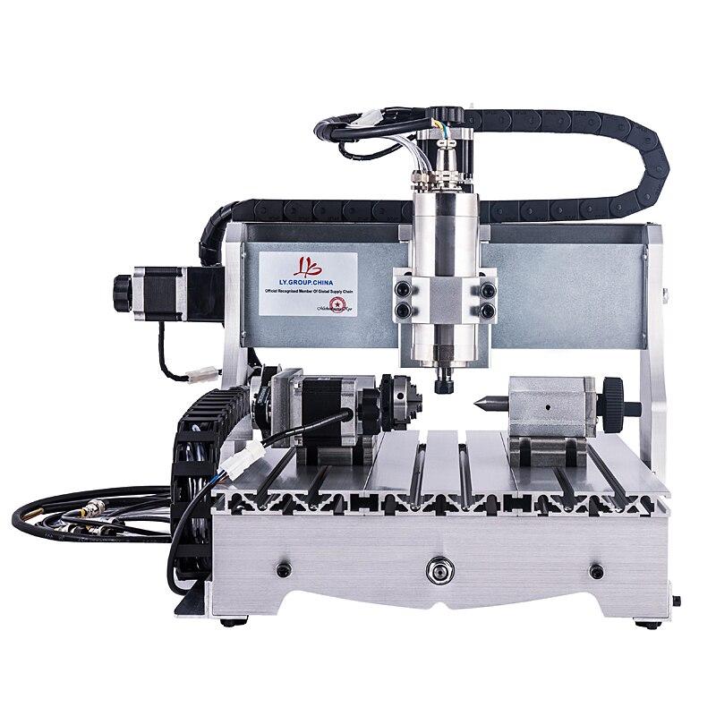 800 W broche refroidie à l'eau 3 axes CNC fraisage 3040 4 axes mini machine de gravure sur bois 4030 avec pince de coupe pince étau forage