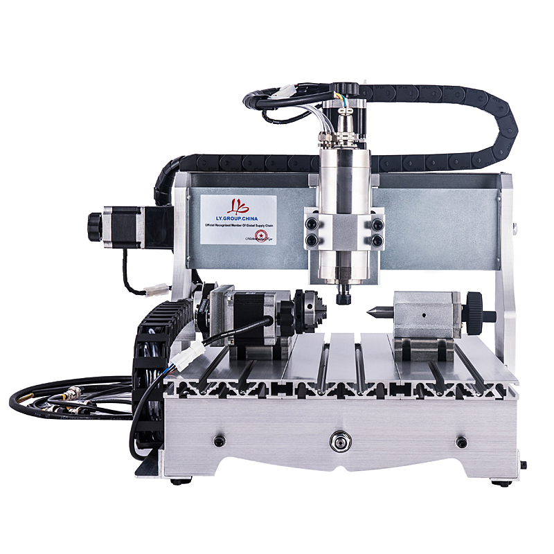 800W water cooled spindle 3axis cnc milling 3040 4axis mini wood engraving machine 4030 with cutter collet clamp vise drilling800W water cooled spindle 3axis cnc milling 3040 4axis mini wood engraving machine 4030 with cutter collet clamp vise drilling