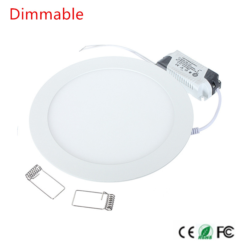 Lights & Lighting Cheap Price Led Downlight 4w 6w 9w 12w 15w 25w Round Ultrathin Smd 2835 Power Driver Ceiling Panel Lights Cool/natural/warm White Dimmable To Have A Long Historical Standing