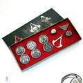 4 styles Animation Assassins Creed Necklace Brooch Rings Boxed Action Figures Gift Model Toys Free Shipping