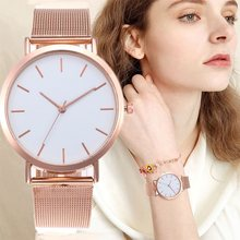 Women's Watches Rose Gold Simple Fashion Women Wrist Watch Luxury Ladies Watch Women Bracelet Reloj Mujer Clock Relogio Feminino(China)