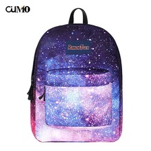 Ou Mo brand purple Starry sky laptop backpack feminina Women school Bag teenagers man computer Backpack For Boys/Girls