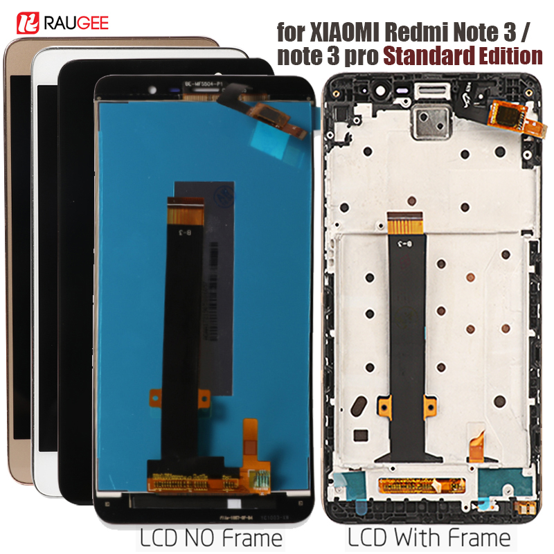 Display For Xiaomi Redmi Note 3 LCD Touch Screen Display With Soft-key Backlight/Frame For Redmi Note 3 Pro/Prime Display 5.5