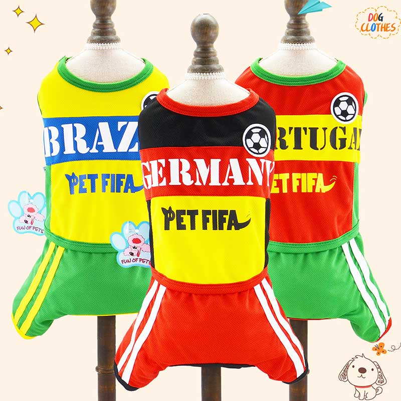 Pet Sports Wear World Cup Team Theme Four-legged Sports Set Season Hot Dog Clothes Football Fans Russia Football Pet Products