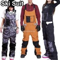 Модные комбинезоны бренд Профессиональный мужчины женщины лыжный костюм для девочек доска для сноуборда одежда женские зимние Штаны водон