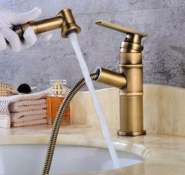 Basin Faucet Pull Out Bathroom Sink