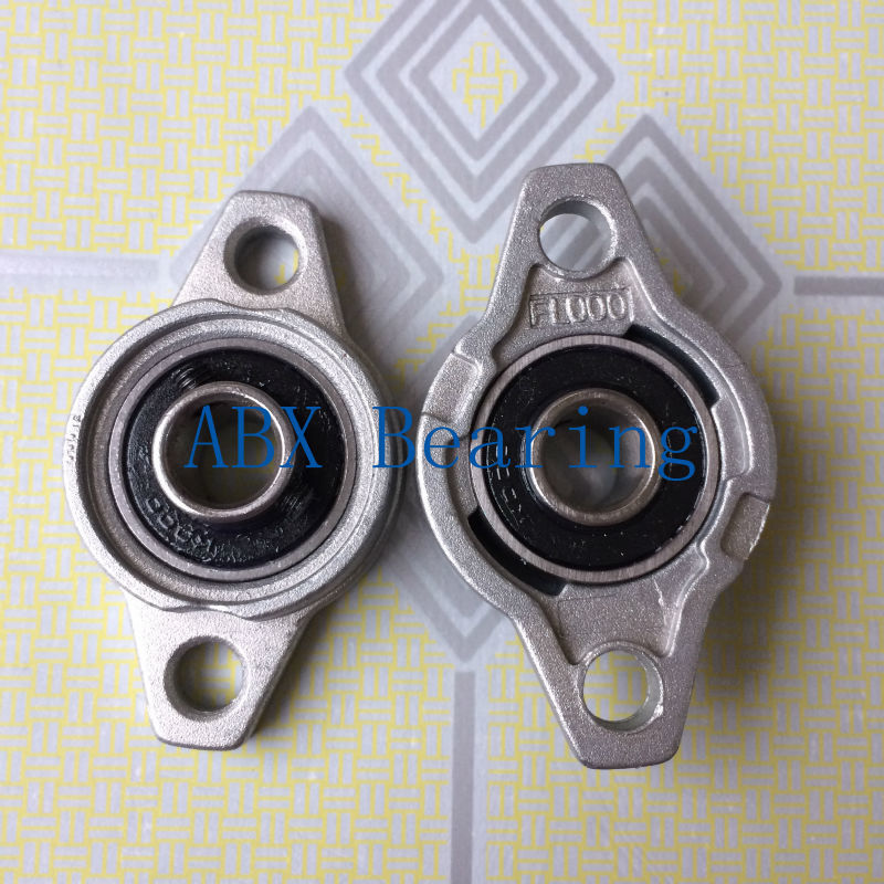 KFL000 10mm pillow block ball bearing Zinc Alloy Miniature Bearings 2pcs ufl001 pillow block ball bearing 12mm zinc alloy miniature bearings with sleeve