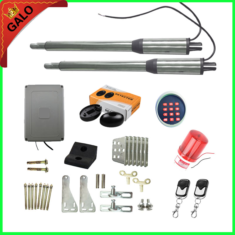 Galo Commercial Linear Actuator DC Worm Gear Automatic Swing Gate Opener (photocells, lamp,gsm operator optional) galo 300 kg double arms swing gate opener door motor kit with 1 pair of photocells 1 alarm light