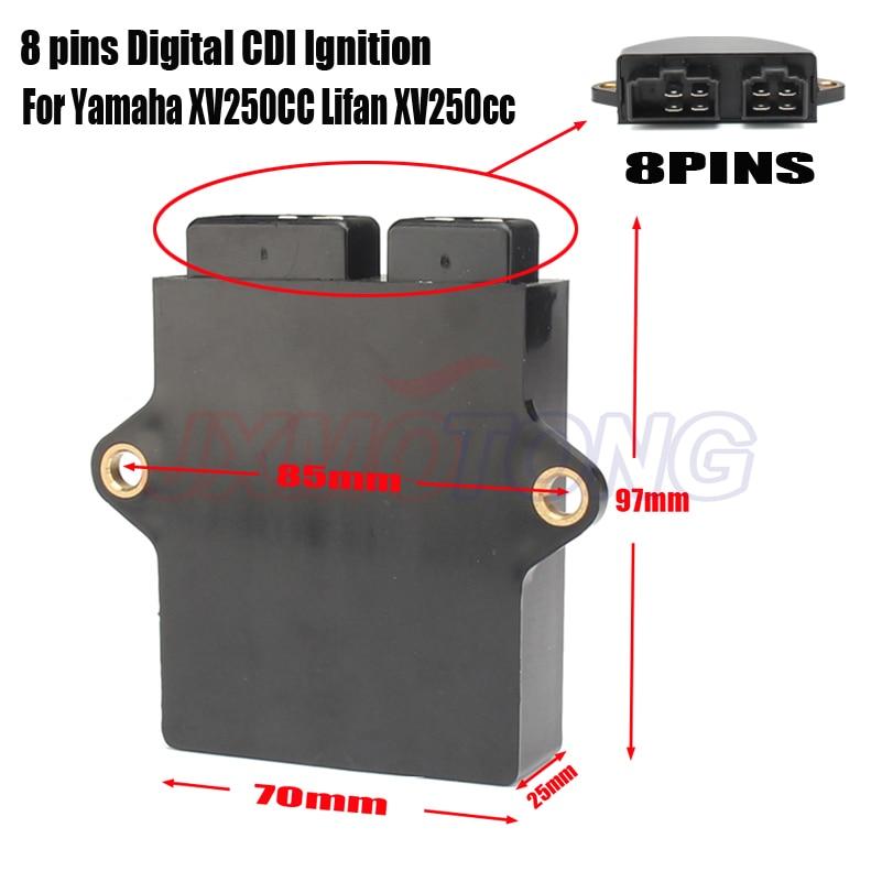 8 pin Digital CDI Ignition Motorcycle Digital Ignition CDI Box For Yamaha Virago XV250 250cc Lifan 250cc Engine ATV Dirt Bike