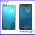 Original novo telefone móvel LCD quadro oriente moldura para Sony Xperia M4 do Aqua dupla habitação + bottons colaterais + logotipo