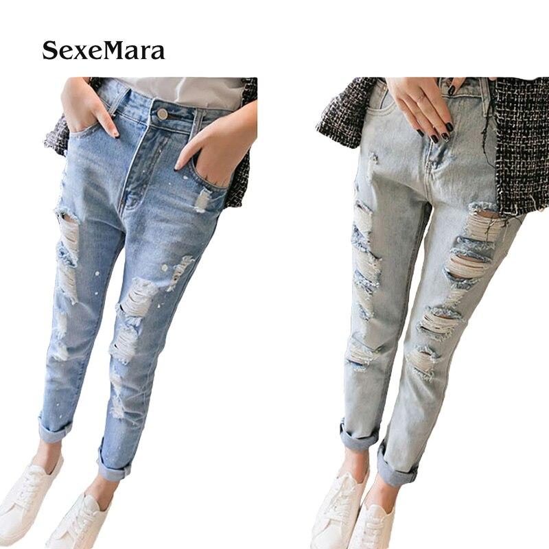 Brand SexeMara Cheap wholesale 2017 new Autumn  Hot selling Jeans women's fashion casual  Denim Pants TA1037 tp1204 cheap wholesale 2016 new autumn winter hot selling women s fashion casual denim pants