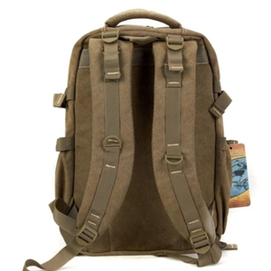 Image 3 - 남자 군사 캔버스 배낭 지퍼 배낭 노트북 여행 어깨 Mochila 노트북 Schoolbags 빈티지 대학 학교 가방