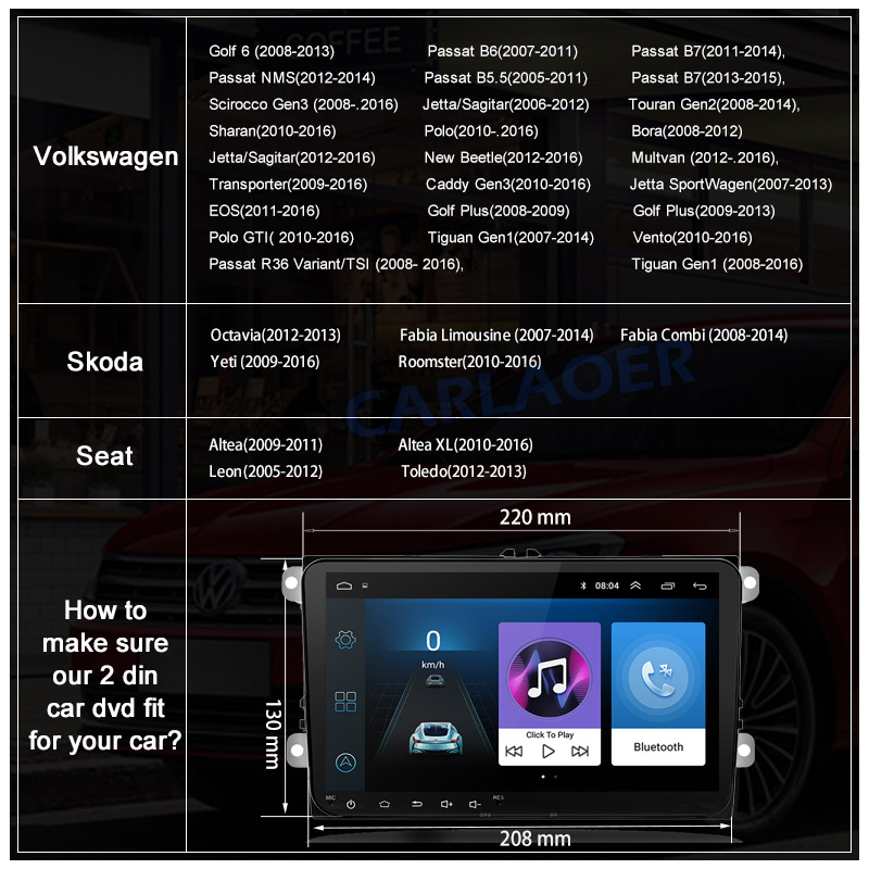"Image 4 - 9 ""Android 8,1 автомобильный радиоприемник gps навигатор для Volkswagen Skoda Octavia golf 5 6 touran passat B6 polo tiguan yeti rapid multimedia-in Мультимедиаплеер для авто from Автомобили и мотоциклы on AliExpress"