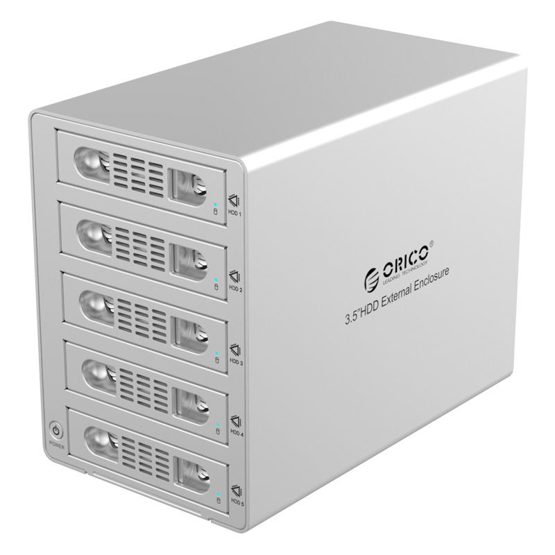 ORICO 3559SUSJ3 external 3.5-inch multi-disk hard disk cabinet USB3.0 high-speed 5-bit hard disk box box sata