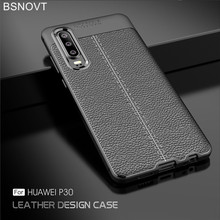For Huawei P30 Case Soft Silicone Luxury Leather Bumper Anti-knock Phone Case For Huawei P30 Cover For Huawei P30 Funda BSNOVT все цены