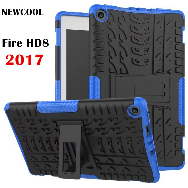 NEWCOOL Case For Amazon 2017 New Kindle Fire HD 8 HD8 2017 Tablet Case TPU+PC Heavy Duty Armor Case Hybrid Rugged Rubber цена