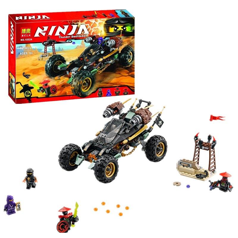 Bela Ninjagoes Rock Roader Building Block Cole RX Lil Nelson Stone Swordsman Scout Minifigures Kids Toy
