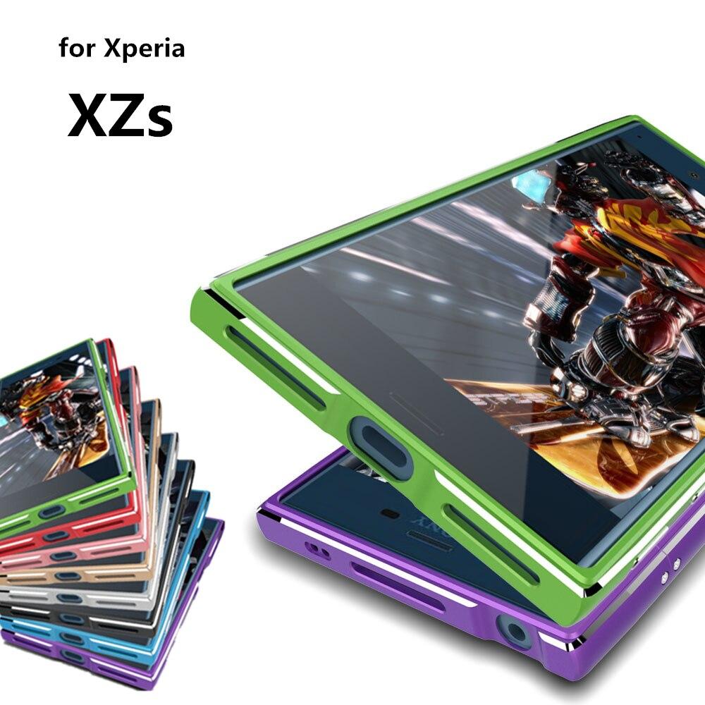 """imágenes para Para El caso de Sony Xperia XZs de Lujo de lujo Ultrafino de Parachoques de aluminio Para Sony Xperia XZs G8232 5.2 """"caso + 2 Película (1 Delantero + 1 Trasero)"""
