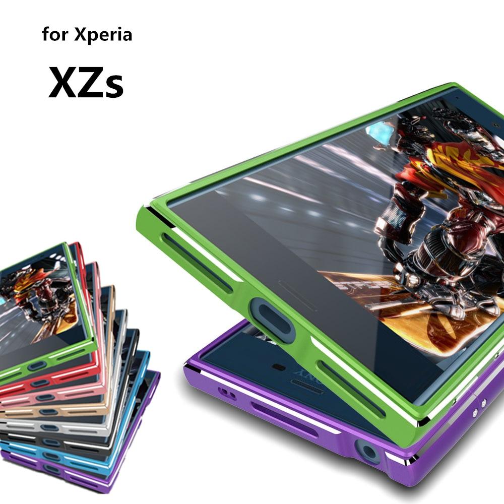 "Цена за Чехол Для Sony Xperia XZs Люкс Делюкс Ультратонкий алюминиевый Бампер на Sony Xperia XZs G8232 5.2 ""случай + 2 Фильм (1 Спереди и 1 Сзади)"