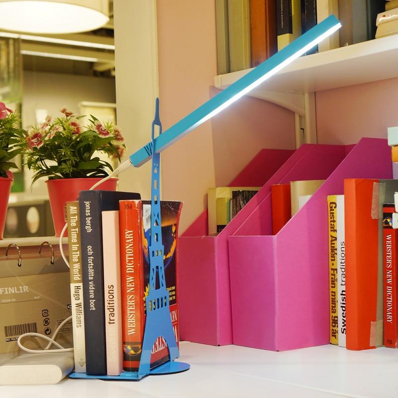 Livewin Desk lamp USB Led Table Lamp Touch regulation Eiffel <font><b>Tower</b></font> Bookends Book Reading light Bedside Night Light