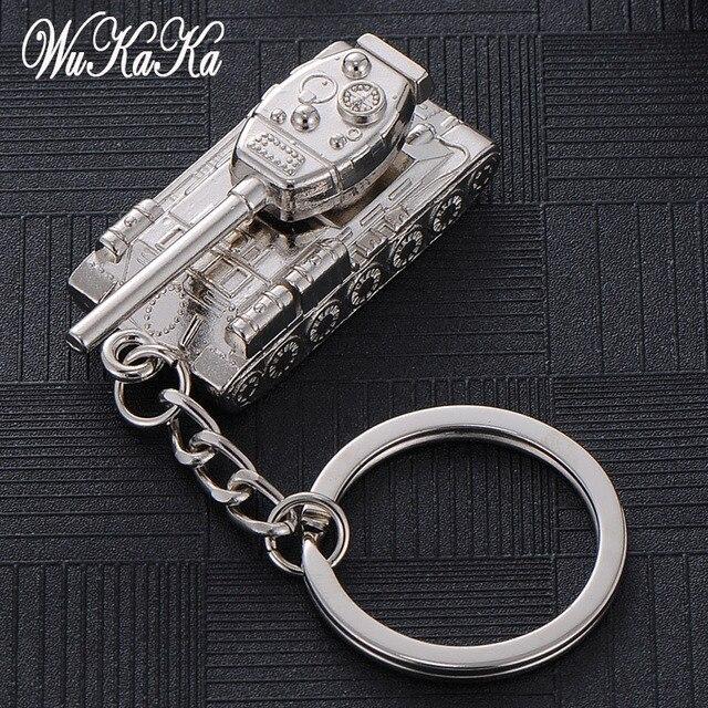 c7427b761307 2019 de moda Cool Metal de aleación de tanque Panzer llavero llave de coche  cadenas anillos