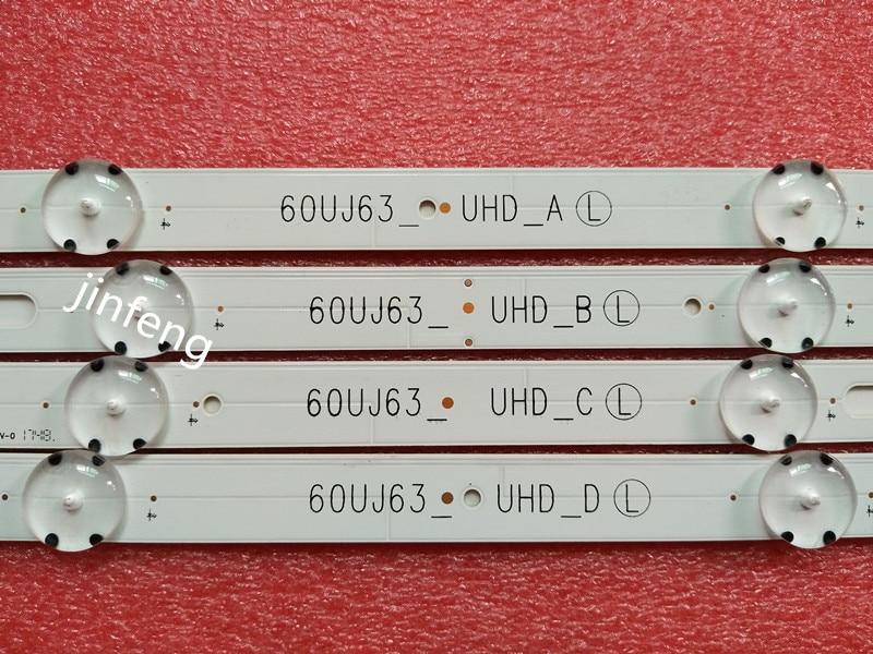 New Kit 10 PCS LED Backlight Strip For LG 60UJ634V EAV63673006 Innotek 17Y 60inch_A 60UJ63_UHD_A B C D NC600DGE AAFXC